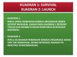kuadran 1 survival kuadran 2 launch