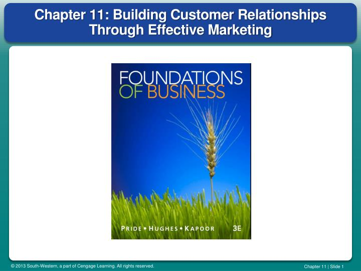chapter 11 building customer relationships through effective marketing n.