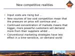 new competitive realities