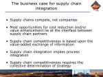 the business case for supply chain integration