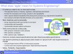 what does agile mean for systems engineering