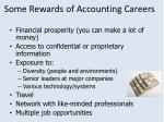 some rewards of accounting careers