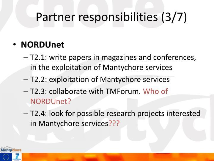 Partner responsibilities (3/7)