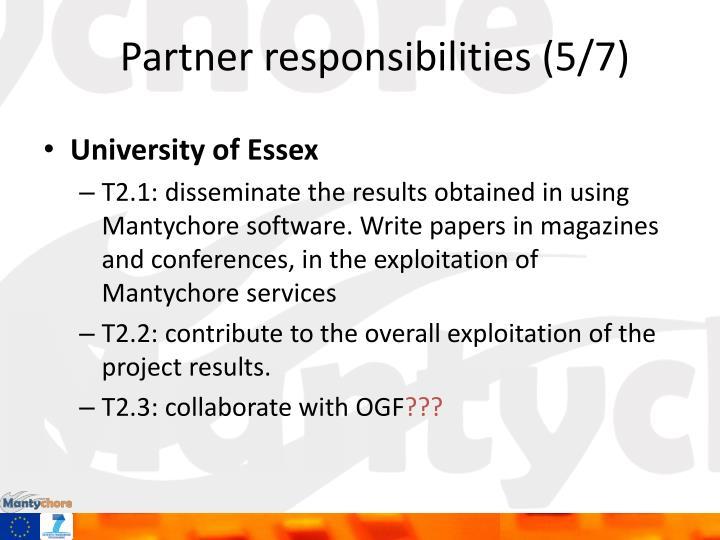 Partner responsibilities (5/7)