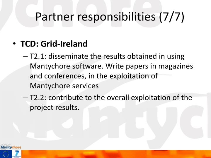Partner responsibilities (7/7)