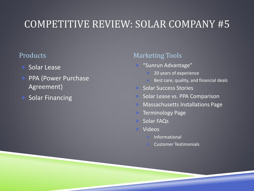 PPT - Solar Company PowerPoint Presentation - ID:1665341