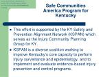 safe communities america program for kentucky
