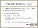ancillary business qsf