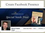 create facebook presence