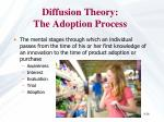diffusion theory the adoption process