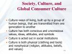 society culture and global consumer culture