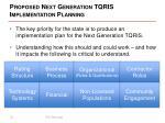 proposed next generation tqris implementation planning