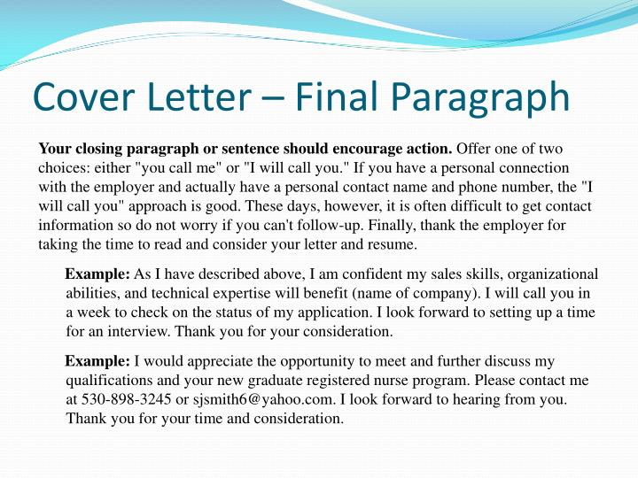 Ppt resume cover letter powerpoint presentation id for Final paragraph of a cover letter