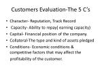 customers evaluation the 5 c s