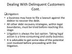 dealing with delinquent customers cont3