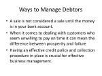 ways to manage debtors