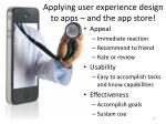 applying user experience design to apps and the app store