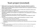 team project revisited