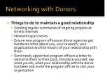 networking with donors1