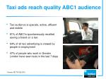 t axi ads reach quality abc1 audience