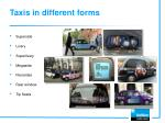 taxis in different forms