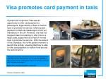 visa promotes card payment in taxis