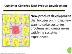 customer centered new product development