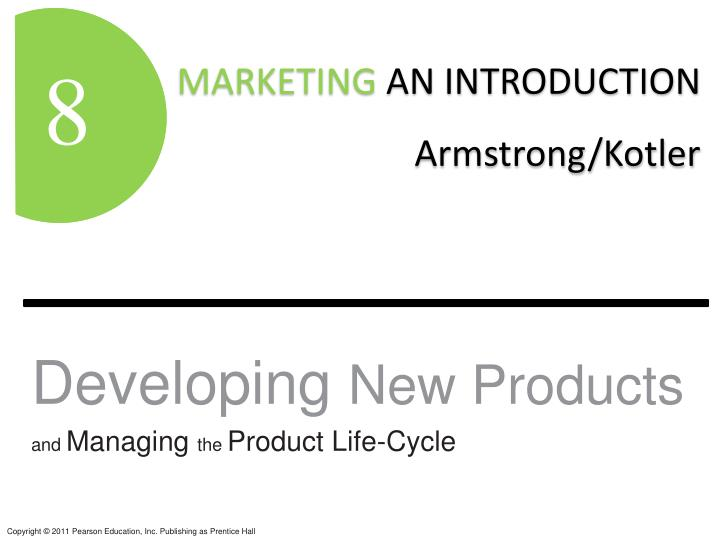 developing new products and managing the product life cycle n.