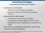 computing technologies computing architecture model