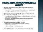 social media in drug wholesale market