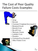 the cost of poor quality failure costs examples