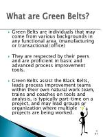 what are green belts