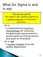 what six sigma is and is not