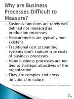 why are business processes difficult to measure