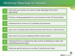 workshop objectives for partners