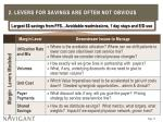 2 levers for savings are often not obvious