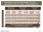 4 maximizing physician engagement is a key success factor in clinical transformation