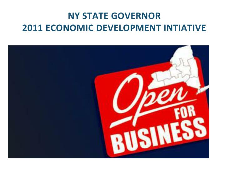 ny state governor 2011 economic development intiative n.