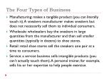the four types of business