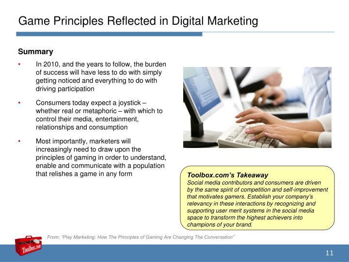 Game Principles Reflected in Digital Marketing
