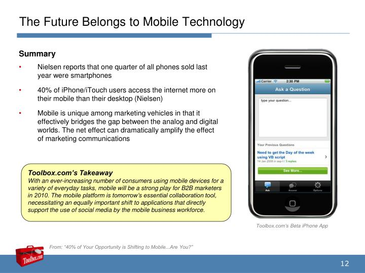 The Future Belongs to Mobile Technology