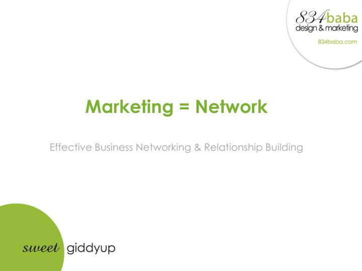 marketing network effective business networking relationship building n.