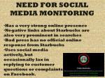 need for social media monitoring