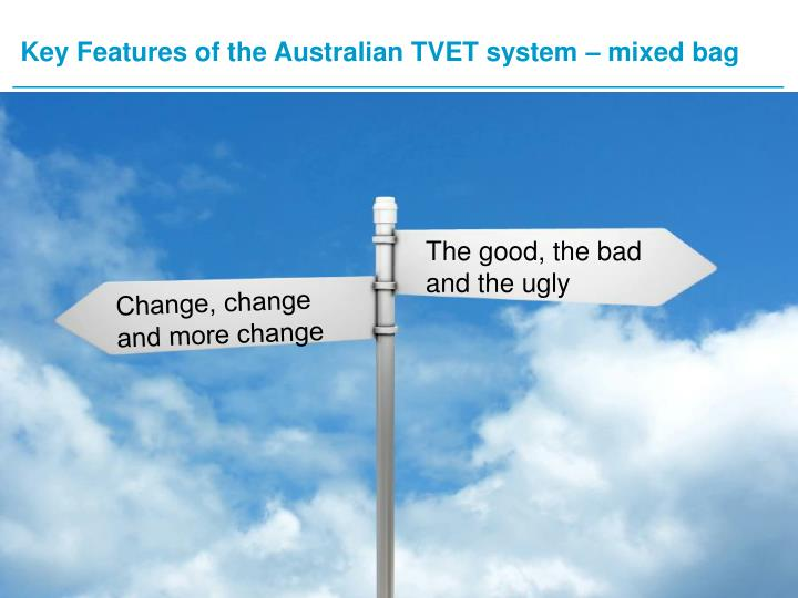 Key features of the australian tvet system mixed bag