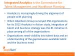 integrated analytics is the cornerstone for talent management and workforce planning