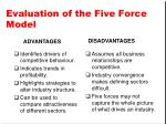 evaluation of the five force model