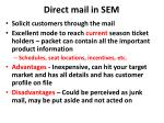direct mail in sem