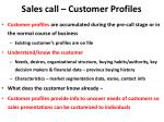 sales call customer profiles