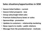 sales situations opportunities in sem