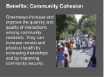 benefits community cohesion